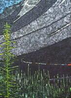 "Kicking Horse Pass, British Columbia 40""Hx30""W Acrylic on Canvas SOLD"