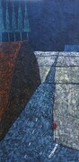 "Airport Road  24""w X 48""h Acrylic on canvas SOLD"