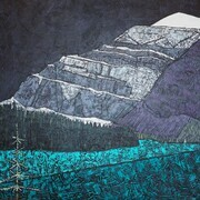 "Mt. Edith Cavell,Alberta 36""x36"" acrylic SOLD"