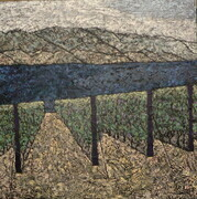 "Okanagan Vineyard 36""x36"" Acrylic on Canvas (currently unavailable)"