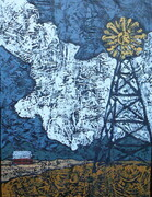 "Weather or Not  12x16"" Acrylic on canvas  SOLD"