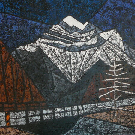 "Near Banff   36""x36""  Acrylic on Canvas SOLD"