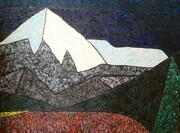 Paintbrush at Mount Robson 30x40 Acrylic on Canvas