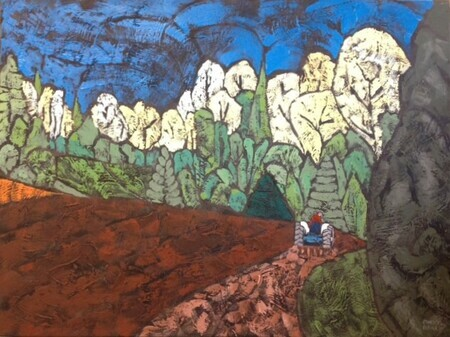 "Vintage Cultivation 3 - acrylic on canvas 30""x40""  SOLD"